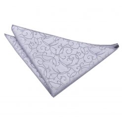 Silver Swirl  Pocket Square