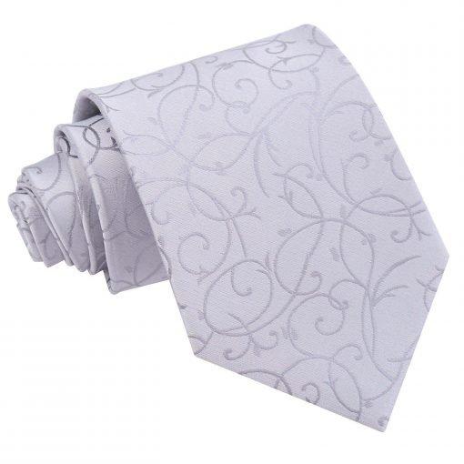 Silver Swirl Classic Tie