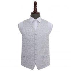 Silver Swirl Wedding Waistcoat