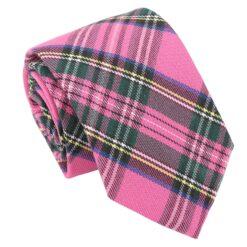 Pink Tartan Plaid Modern Classic Tie
