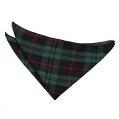 Black & Green with Red Tartan Handkerchief / Pocket Square