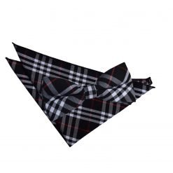 Black & Green with Red Tartan Bow Tie & Pocket Square Set