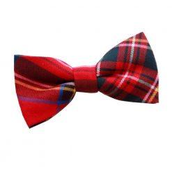 Red Royal Stewart Tartan Bow Tie