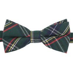 Green Tartan Plaid Bow Tie