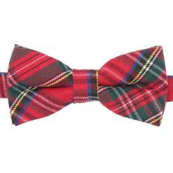 Red Royal Stewart Tartan Plaid Bow Tie