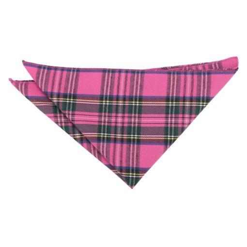 Pink Tartan Plaid Pocket Square