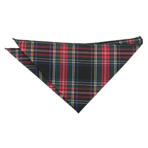 Red and Green Tartan Plaid Pocket Square