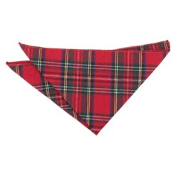 Red Royal Stewart Tartan Plaid Pocket Square