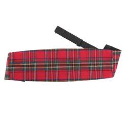 Red Royal Stewart Tartan Plaid Cummerbund