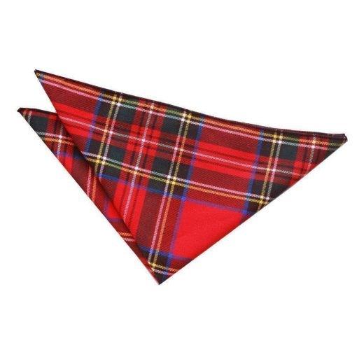 Red Royal Stewart Tartan Handkerchief / Pocket Square