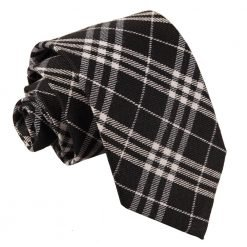 Black & White Tartan Classic Tie