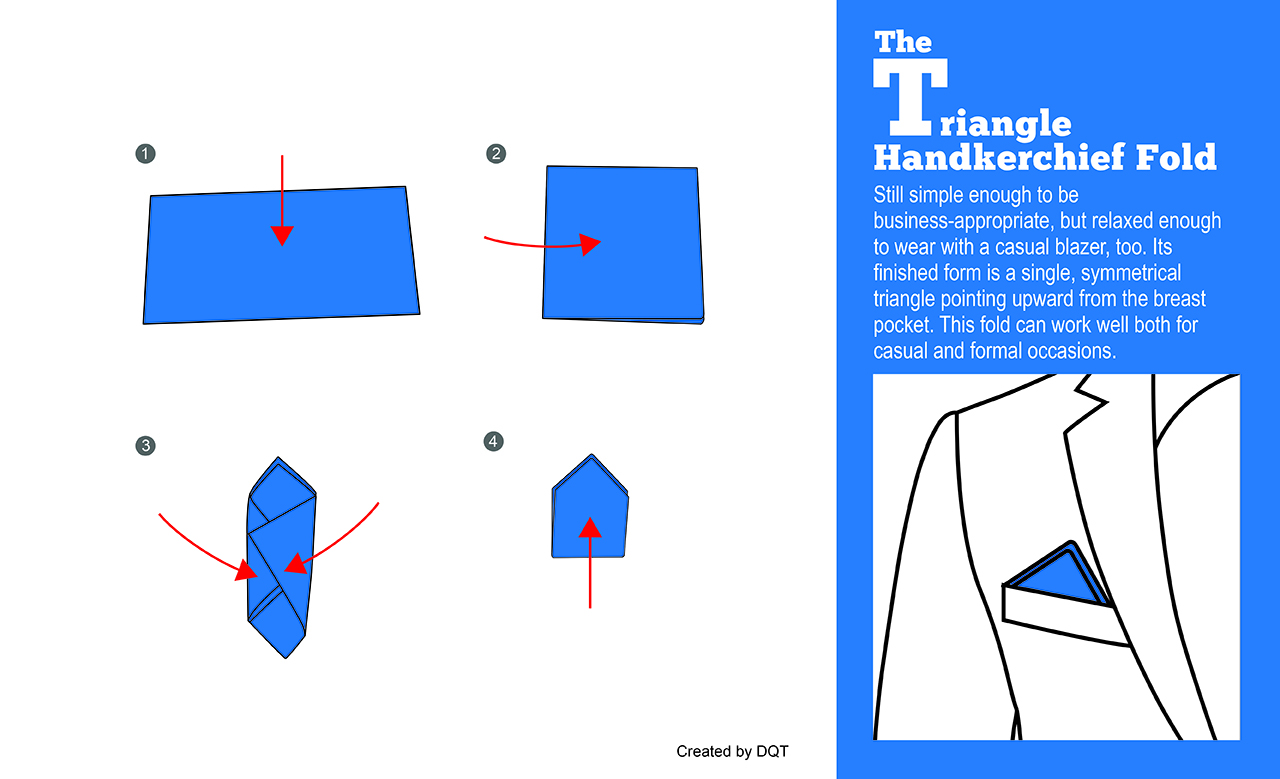 How To Fold a Triangle Handkerchief (10 of 11) by DQT