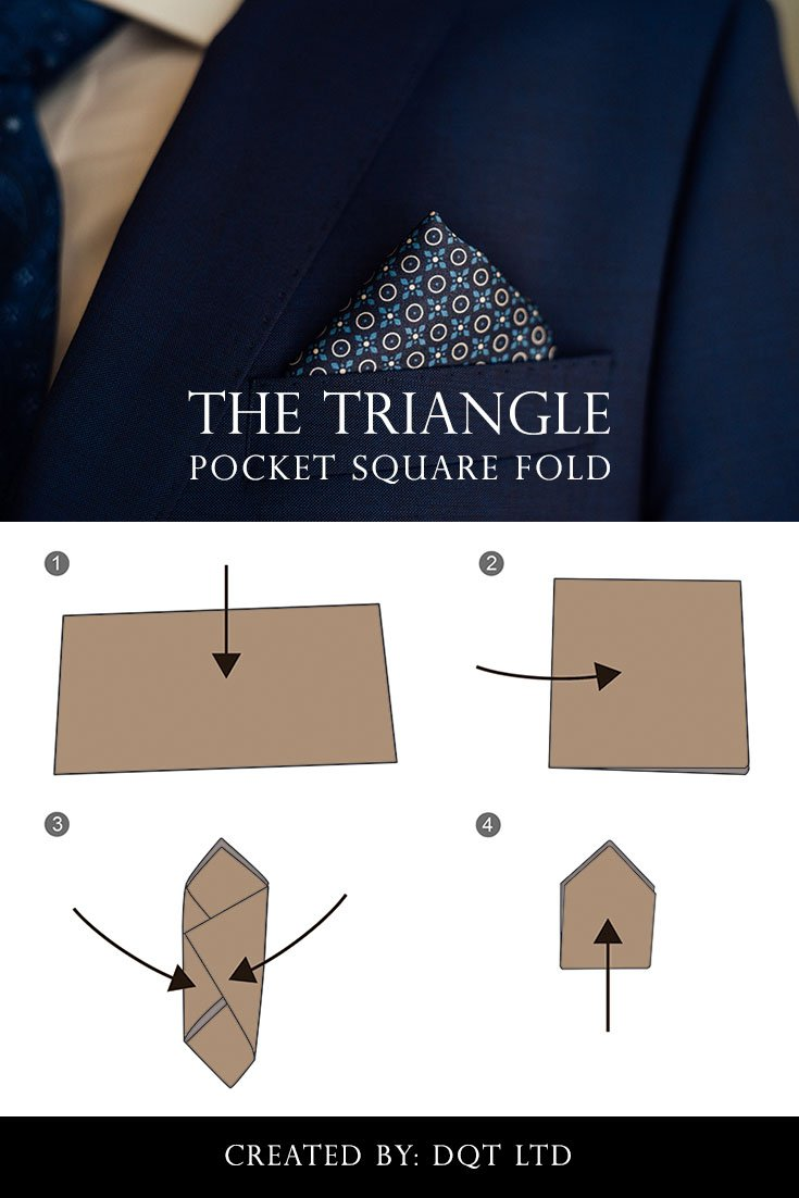 How To Fold a Triangle Pocket Square (10 of 11) by DQT