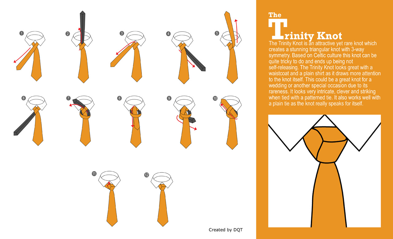 how to tie a trinity knot 4 of 21 by dqt rh dqt co uk Quotes About Wearing Ties Tie Knots Styles