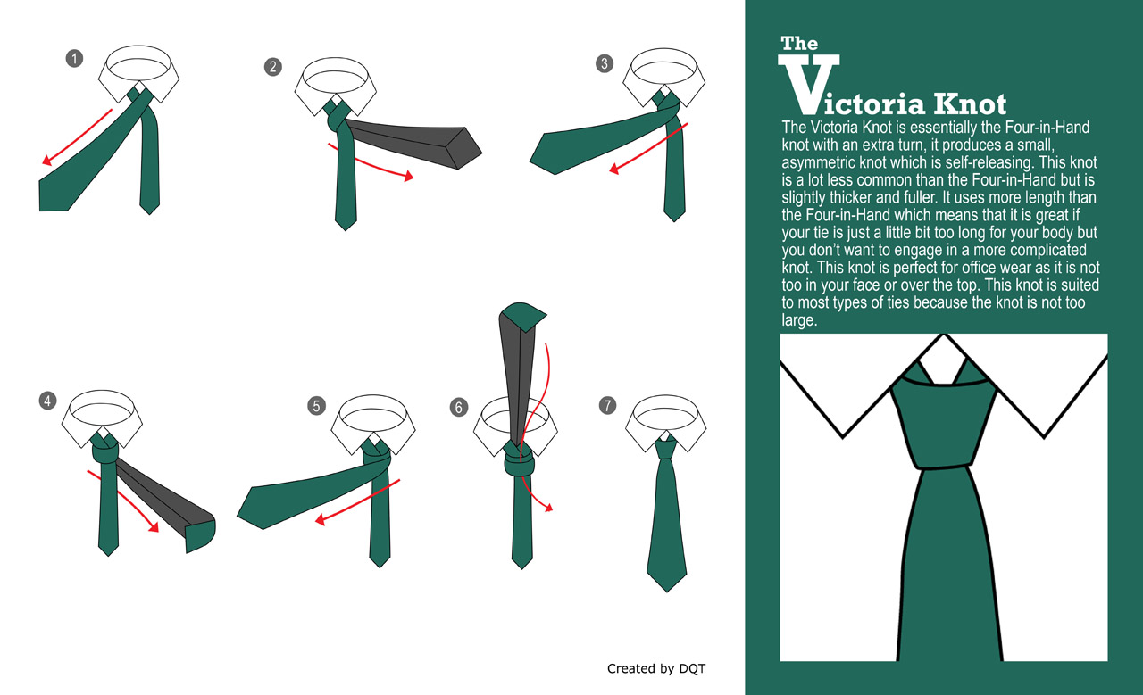 How To Tie a Victoria Knot (14 of 21) by DQT