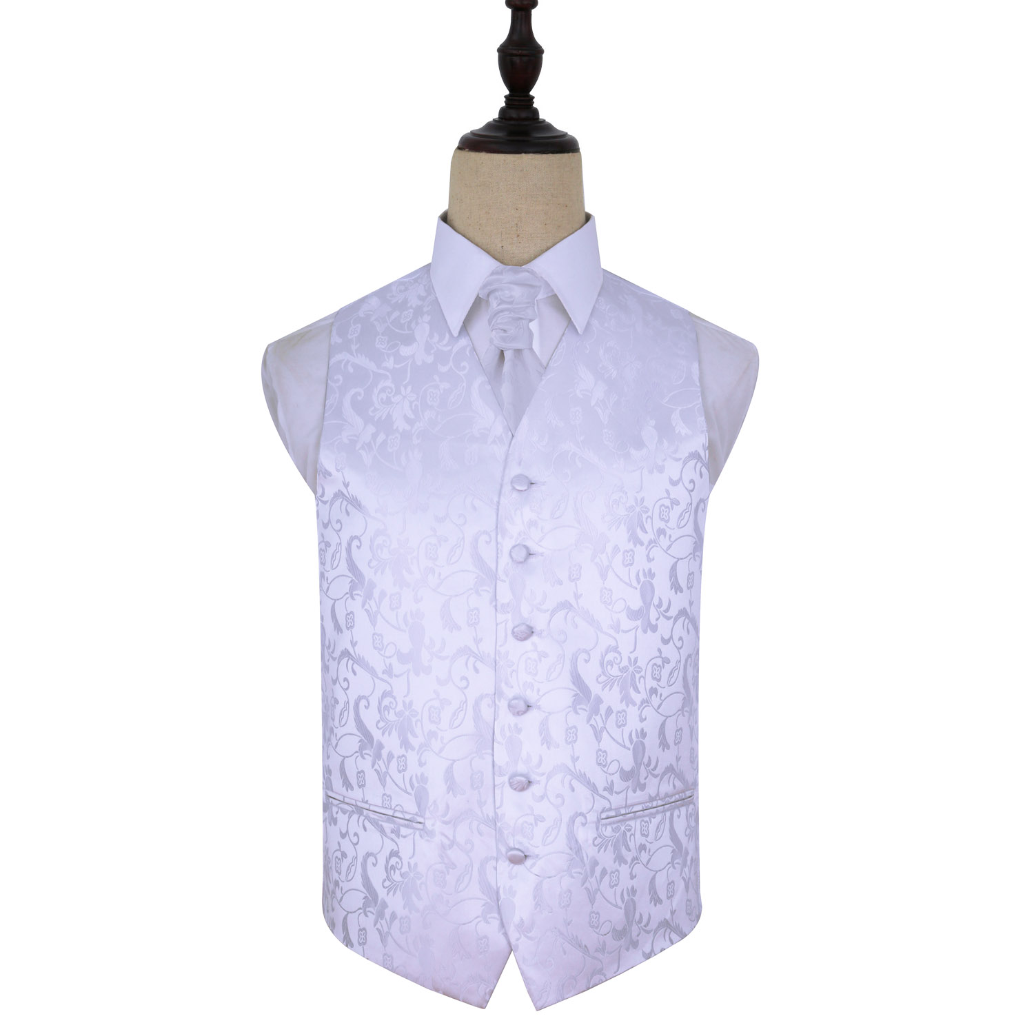 Page Boy Wedding Waistcoat Cravat Set in Blue Purple Ivory Red Boys Suit
