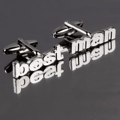 Best Man Cut Out Words Wedding Cufflinks