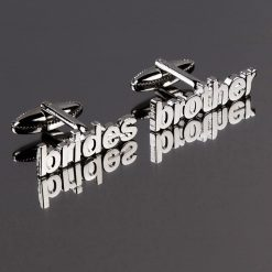 Brides Brother Cut Out Words Wedding Cufflinks