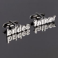 Brides Father Cut Out Words Wedding Cufflinks