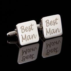 Best Man Laser Wedding Cufflinks