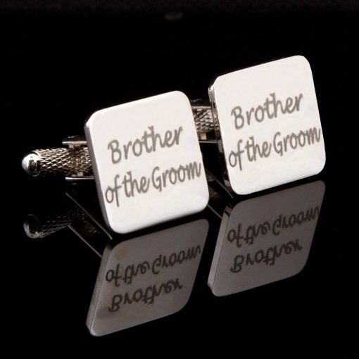 Brother of the Groom Laser Wedding Cufflinks