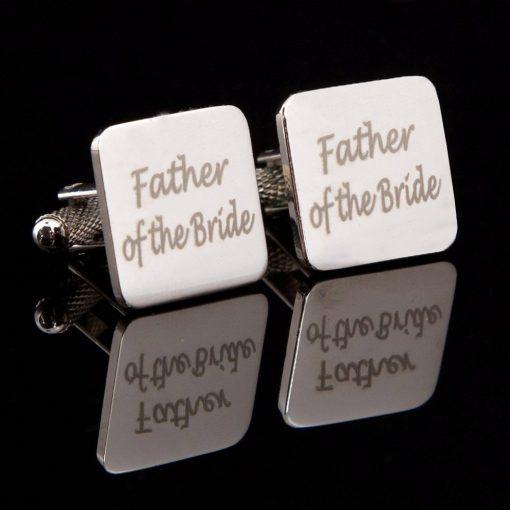 Father of the Bride Laser Wedding Cufflinks