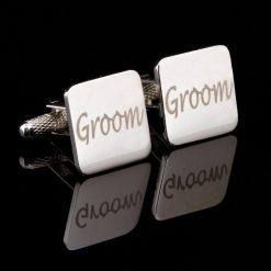 Groom Laser Wedding Cufflinks