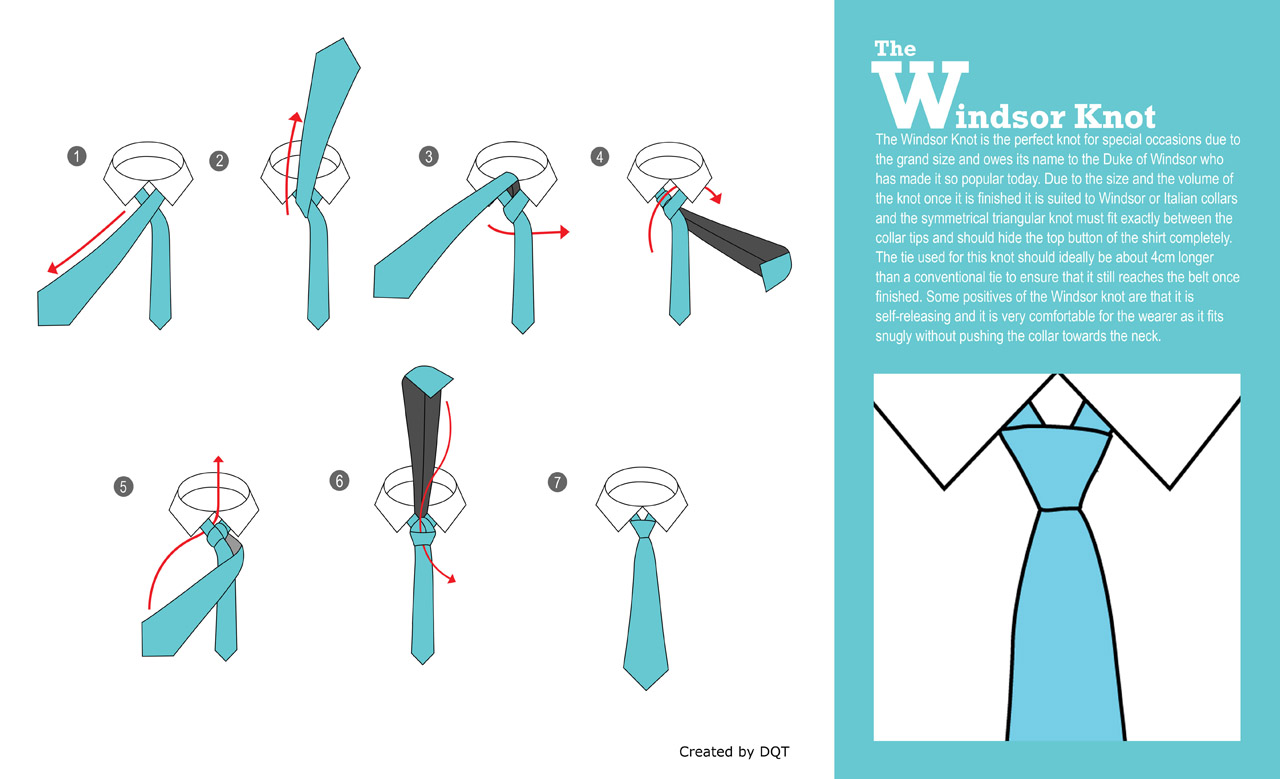 How To Tie a Windsor Knot (8 of 21) by DQT