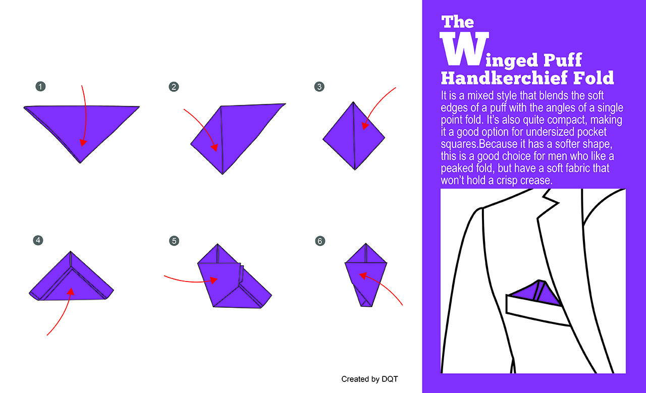 How To Fold a Winged Puff Handkerchief (11 of 11) by DQT